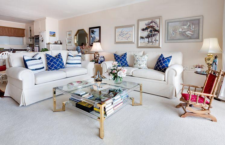 white italian sofas